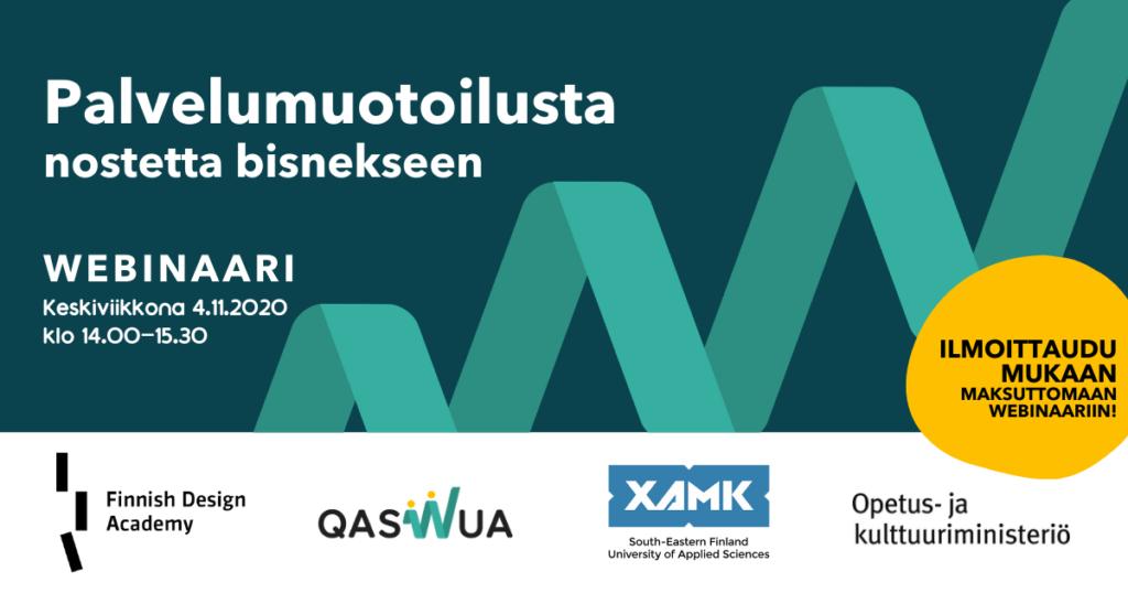 Qaswua toteuttaa Palvelumuotoilun webinaari yhteistyössä FDA:n ja Xamkin kanssa.