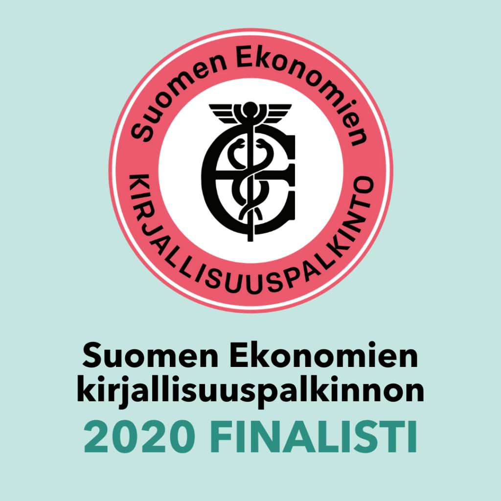 Palvelumuotoilun bisneskirja on Suomen Ekonomien kirjallisuuspalkinnon 2020 finalisti.
