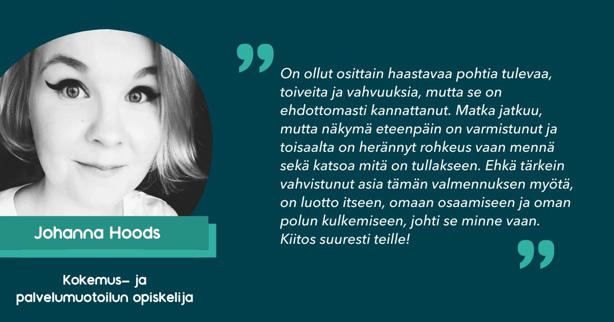 Johanna Hoodsin kokemuksia Palvelumuotoilijan ALOITTAJA-valmennuksesta